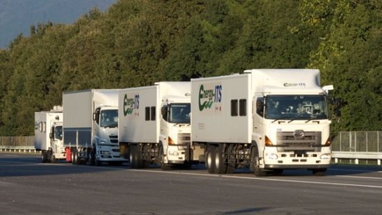 """Scania AB and Toyota Tsusho will soon begindeveloping self-driving trucks for transporting containers between terminals at the Port of Singapore (PSA). The vehicles will be equipped for """"platooning,"""" in which a lead truck is operated by a human driver and a number of semi-autonomous, unmanned trucks follow closely behind it. http://maritime-executive.com/article/port-of-singapore-to-test-self-driving-trucks"""