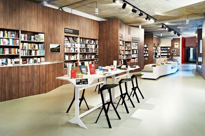 Bookstore Caf Interior Design Inspiration