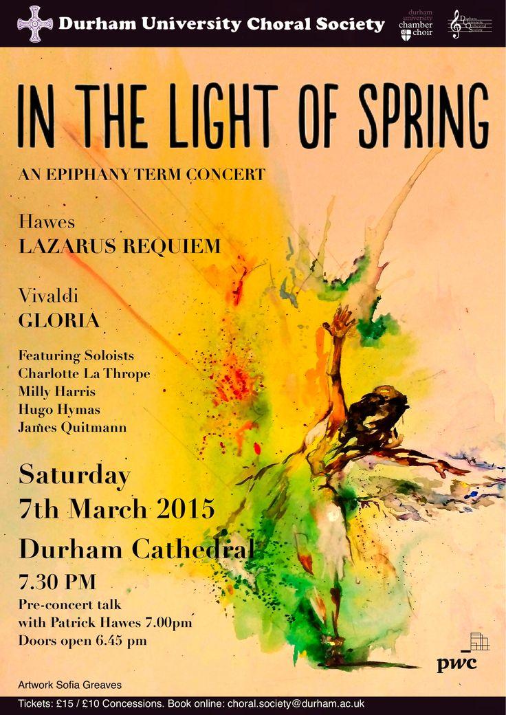 Durham University Choral Society In the Light of Spring Concert Poster - Vivaldi Gloria