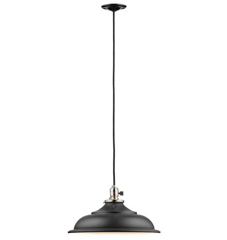 Baltimore Classic Cord Pendant A6626 || with Brushed Nickel Shade