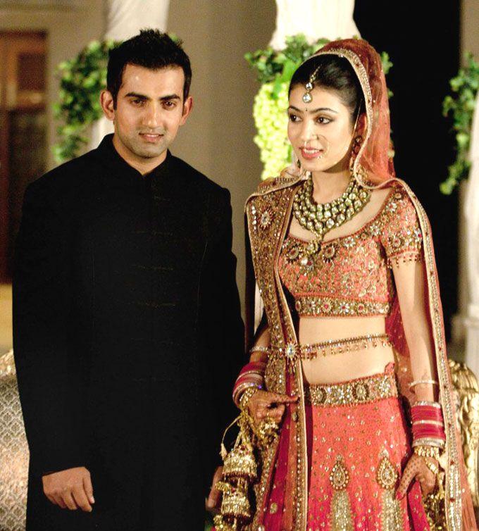 Indian opener Gautam Gambhir married Natasha Jain in a ...