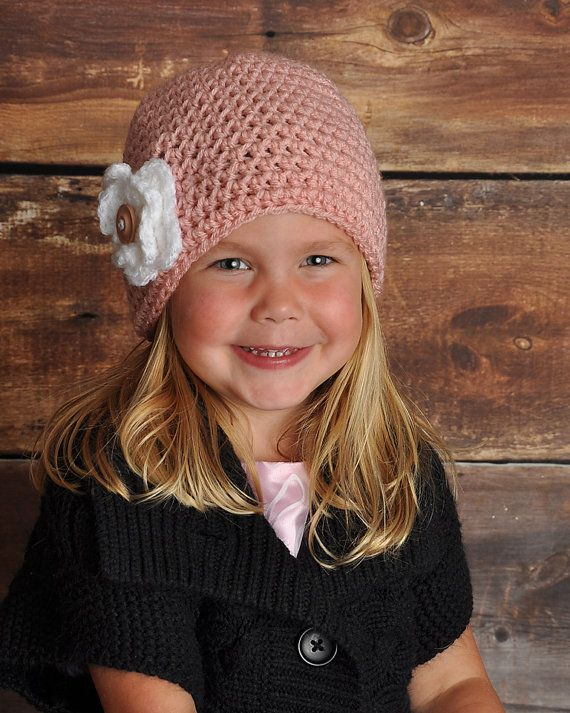 Crochet Chloe Hat Beanie in Sizes Newborn - Large Child Size by Little Sweetheart Designs