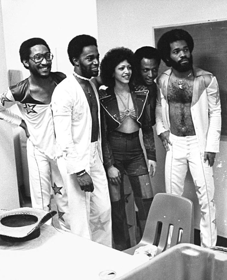 Sheila E. with her first band with whom she opened for Prince on the 'Purple Rain' tour.