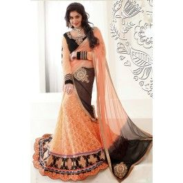 Presenting Peach Net Wedding #Lehenga #Choli with Embroidered,Patch Work and Lace Work Order Now@ http://zohraa.com/sarees/sari/wedding-sarees/peach-net-wedding-lehenga-choli.html Rs. 6999.