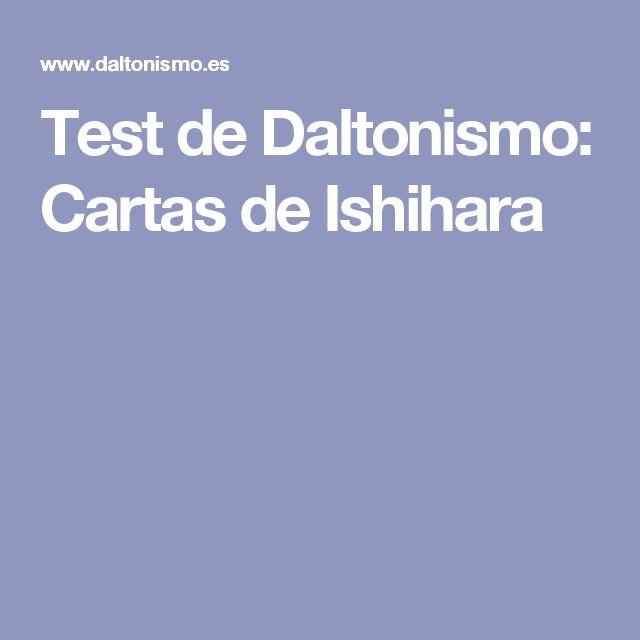 Test de Daltonismo: Cartas de Ishihara