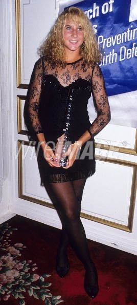 Monica Seles looking very sexy as she receives an award at the Women's International Tennis March of Dimes Benefit Dinner on August 27, 1990. By this time, Monica was beginning her ascent to the top of women's tennis.
