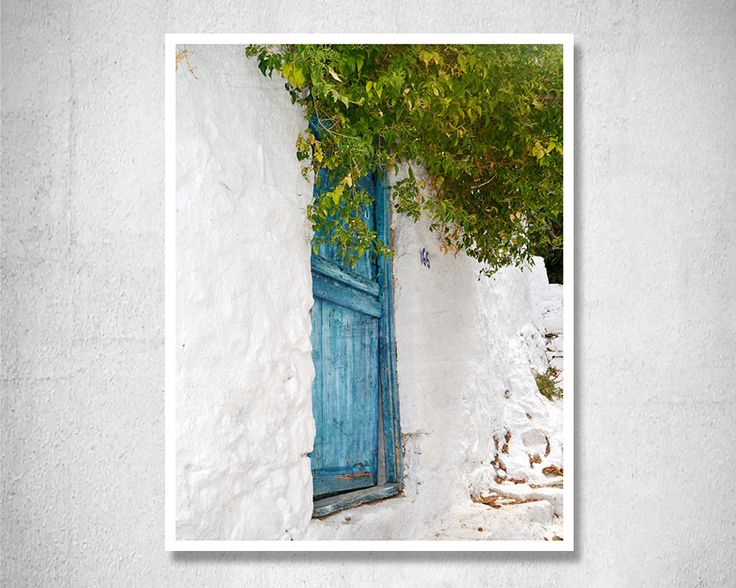 Door photography Greece Photography Greek photos Blue Wall decor Travel photography Fine art Print Turquoise decor Housewarming gift by LightBluePhotography on Etsy