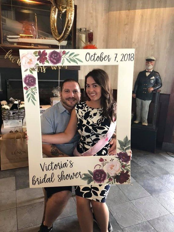 Giant Photo Frame Photo Booth Prop Bridal Shower Frame Red