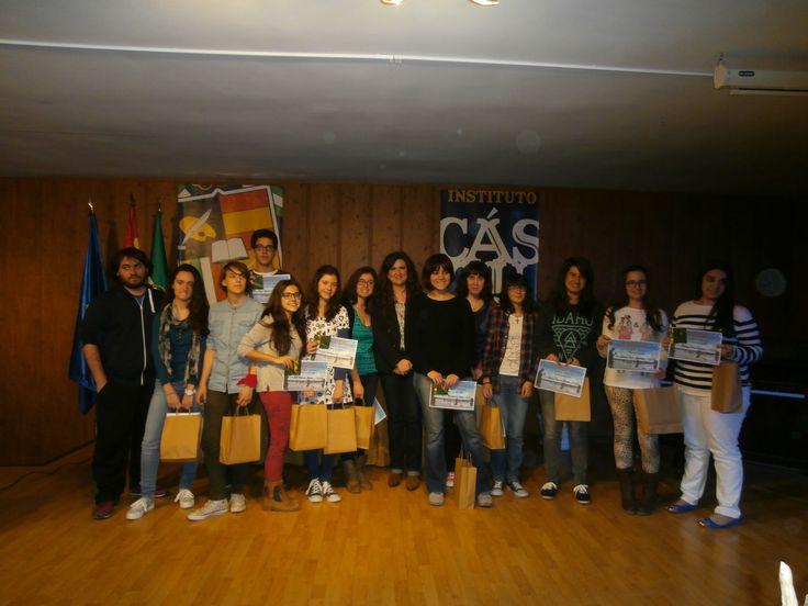 Entrega de premios del III concurso de Relato Corto Ilustrado IES Cástulo 2014. Entrega los premios la Delegada de Educación Doña Yolanda Caballero. (23/04/2014)