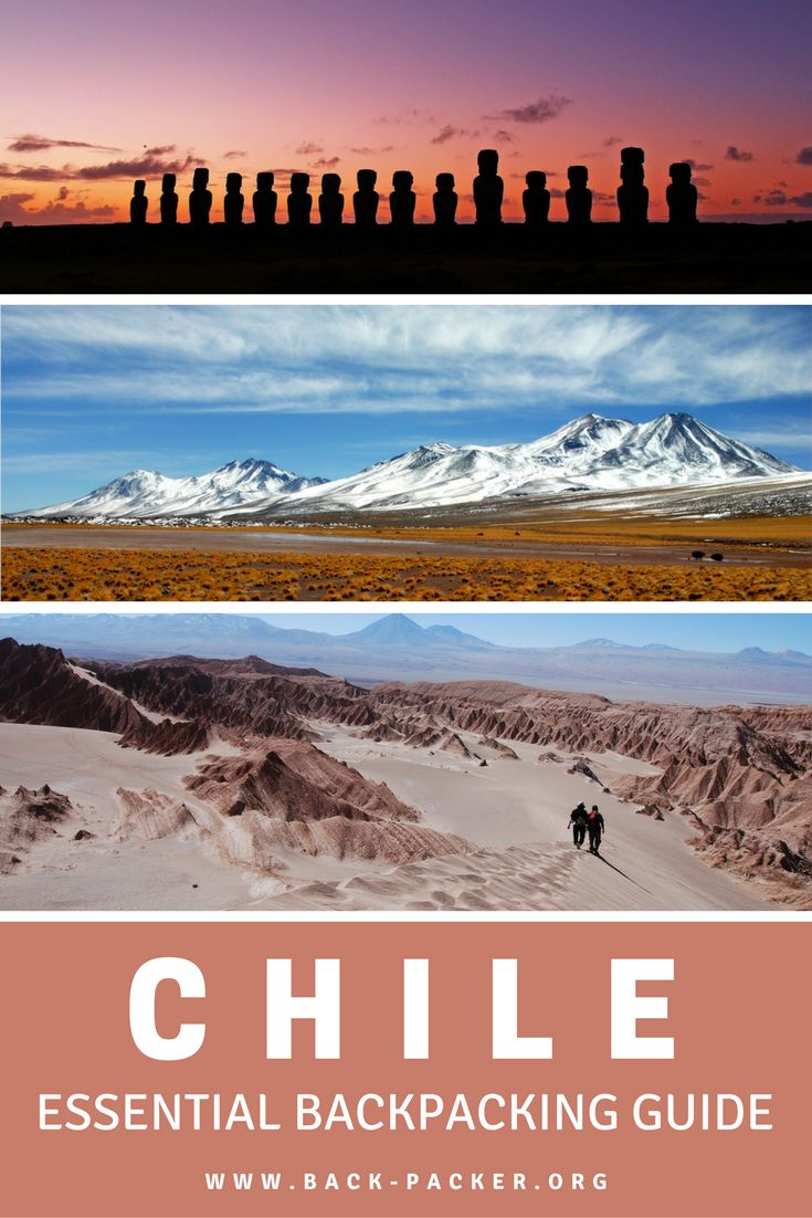 Planning a trip to South America? This Chile travel ebook contains everything you need to know before visiting the country and includes an itinerary planner, packing list, destination guide + more. A complete independent travel guide to Chile. | Back-Packer.org #Chile #Travel