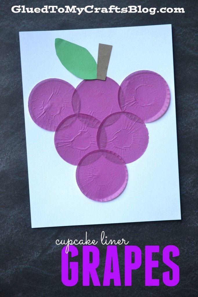 Cupcake Liner Grapes - Kid Craft