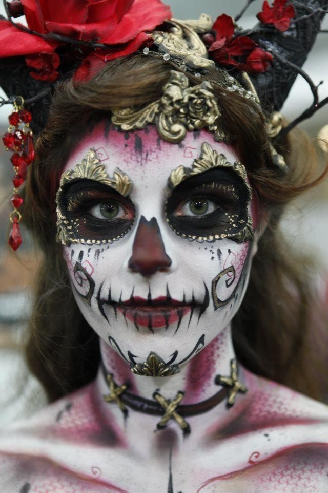 Макияж на Хэллоуин   Страшный макияж на Хэллоуин фото