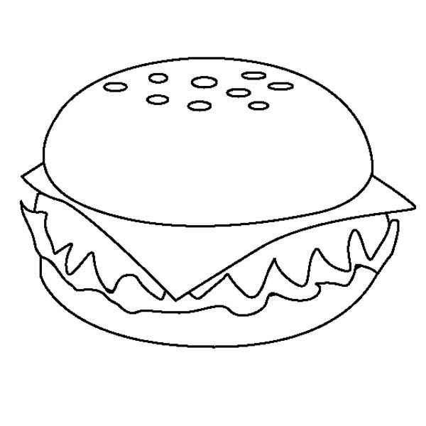 Cheeseburger Coloring Pages Food Coloring Pages Online Coloring Pages Coloring Pages