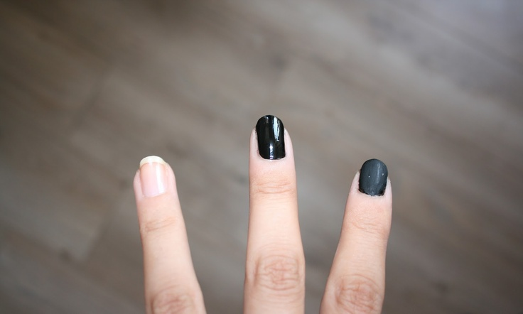 normal finish VS matte finish #nail #makeup #beauty