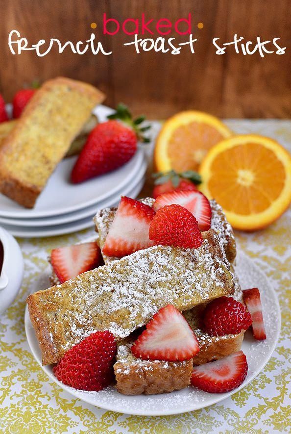 Baked French Toast Sticks #breakfast #freezerfriendly #kids #recipe @IowaGirlEats | iowagirleats.com