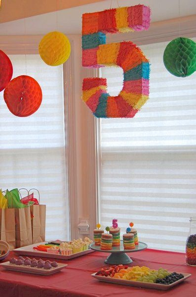 spa party ideas for girls birthday | Rainbow spa birthday party ideas for girls: Happy 5th birthday Elle!