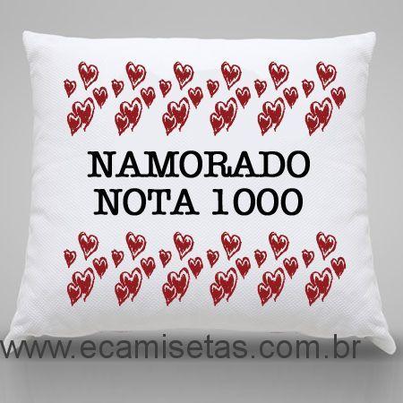 Almofada Personalizada Namorado Nota 1000 -  - Almofadas namorados - Almofadas Personalizados - eCamisetas