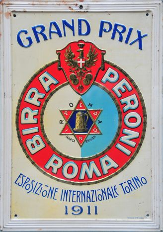 Old Peroni advertising sign