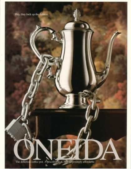 Oneida advertisement from 1993. I collected these because they looked so fabulous.