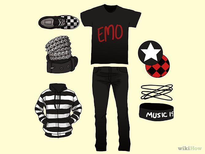 How to Dress Emo (Guys): 4 Steps (with Pictures) - wikiHow