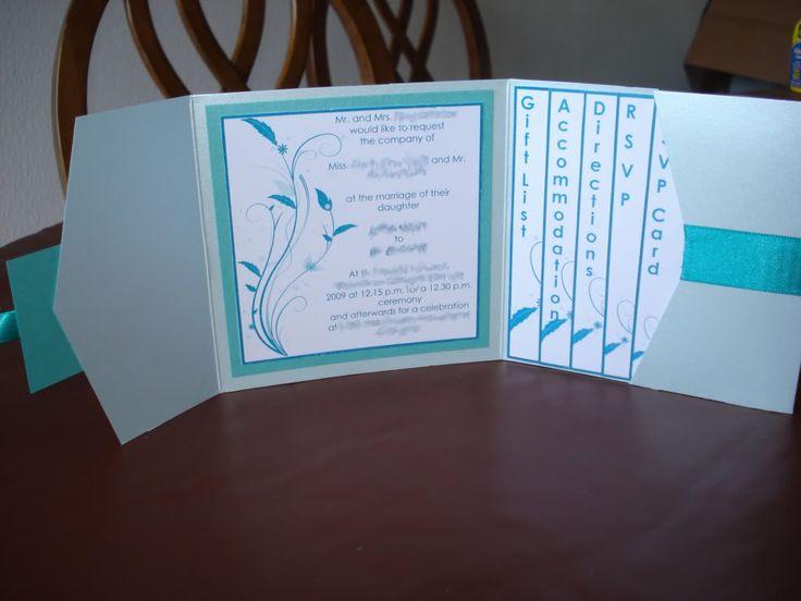 Wedding Invitations Pocketfold: DIY Pocketfold Invitation