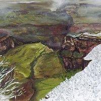 Grand Canyon Snowfall Oil on Canvas 50 X 70cm