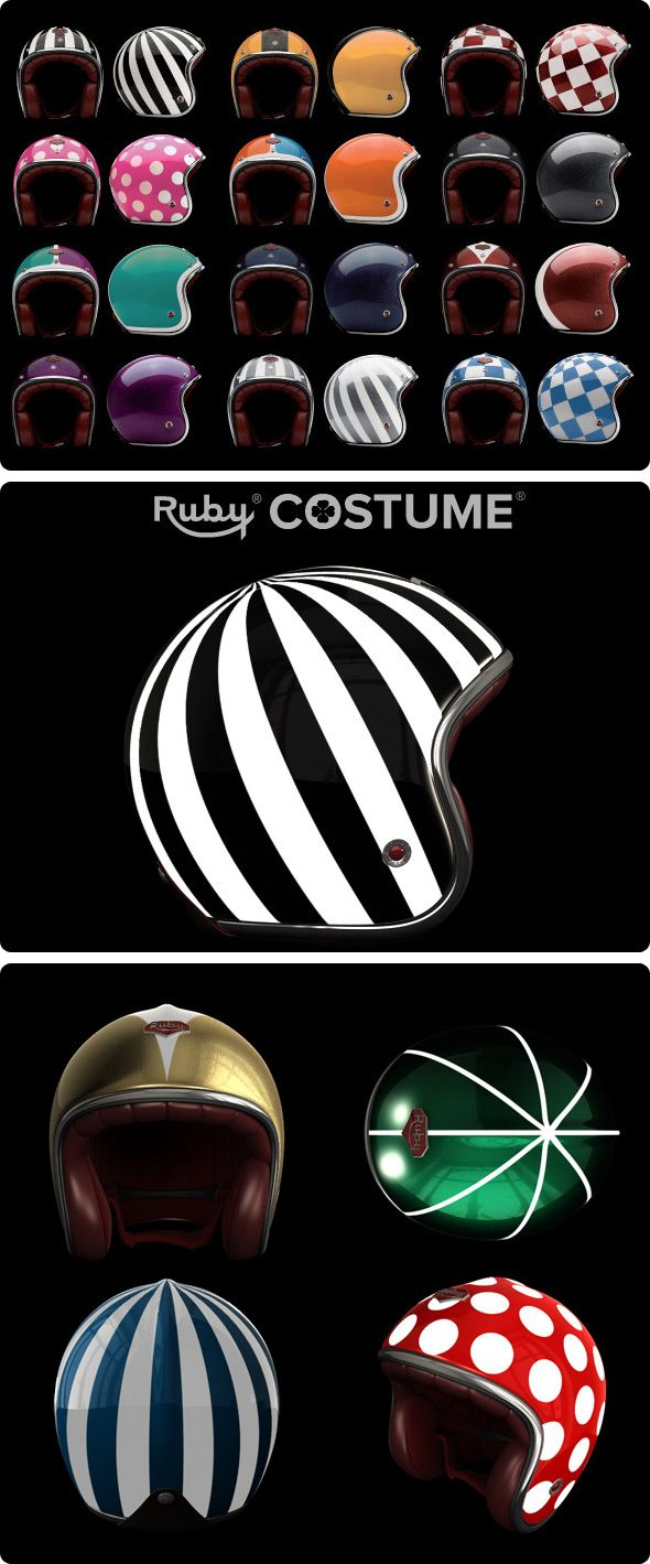 Custom helmets! I need something colorful for my Vespa!