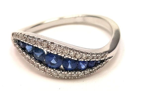 Perfect for anniversary band! On Etsy. Can be made in yellow gold & any quality of diamond (for a price of course).
