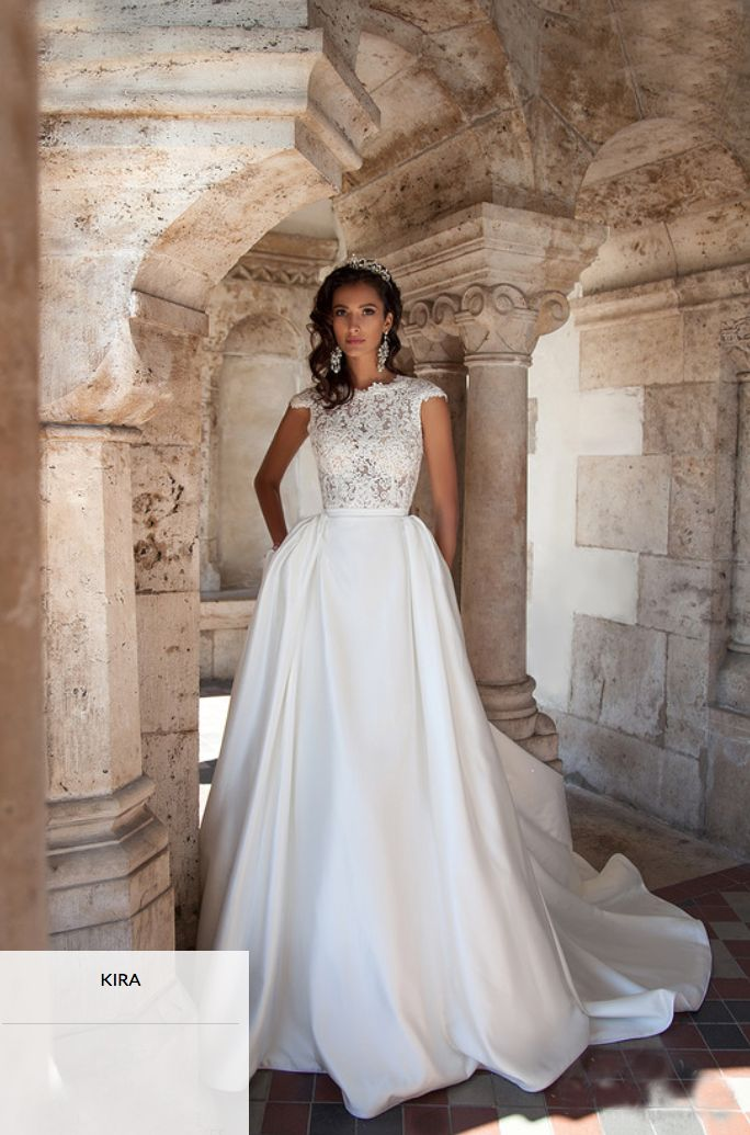 Delicate Lace Appliques Ball Gown Wedding Dress 2016 Cap Sleeve Court Train High Quality Evening Prom Dresses At Factory