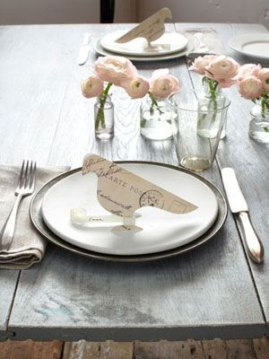 carrier pigeon placecard