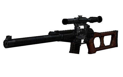Full Size VSS Vintorez Suppressed Sniper Rifle Free Gun Paper Model Download…