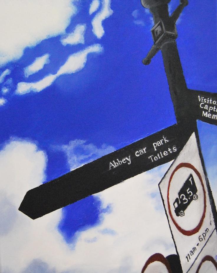 Signpost painting, Jenny Yu, Year 12