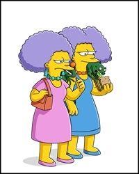 Patty y Selma Bouvier con Jub-Jub