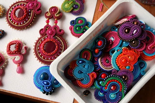 ArtAnnyR gorgeous soutache and embroidered jewelry