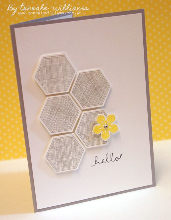 Petite Petal and Six Sided Sampler by Teneale Williams. #StampinUp #SimpleCardmaking