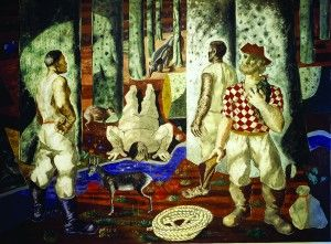 """""""Entry into the Forest"""" is one of four murals by Brazilian painter Cândido Portinari in the Hispanic Reading Room. Photograph by Carol Highsmith. From the LC Blog - Celebrating Hispanic Heritage: Feliz Cumpleaños, Hispanic Division."""