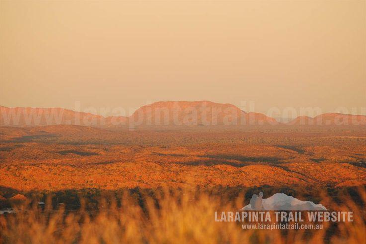 Sunset views from Euro Ridge along Section 1, Larapinta Trail. © Explorers Australia Pty Ltd 2013