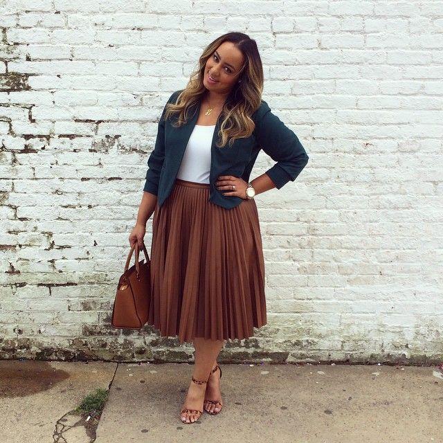 plus size teacher fashion