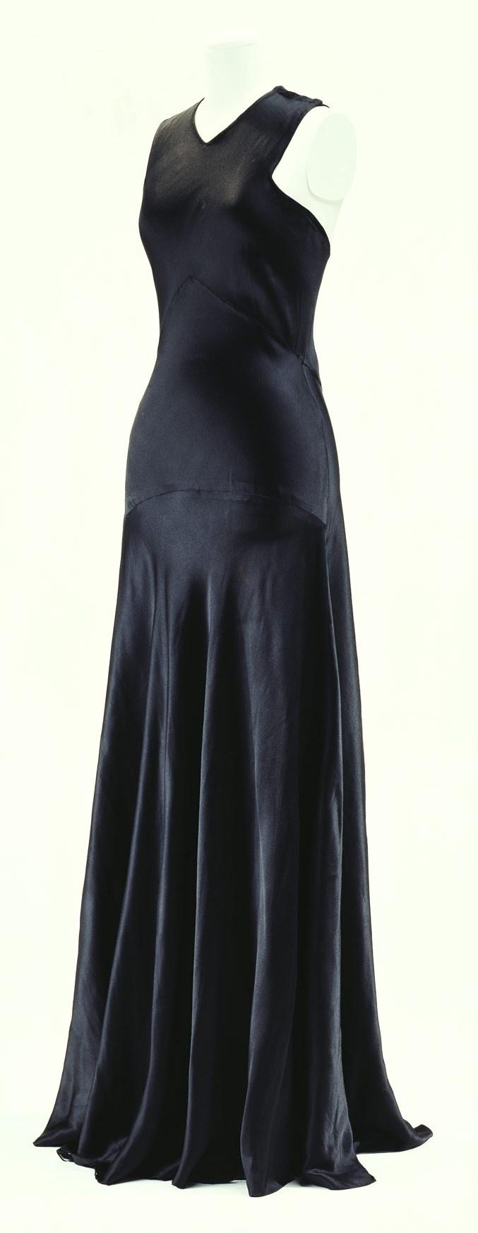 Madeleine Vionnet Bias-Cut Silk Satin Evening Dress, 1932