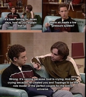 Corey and Topanga role models for a good relationship