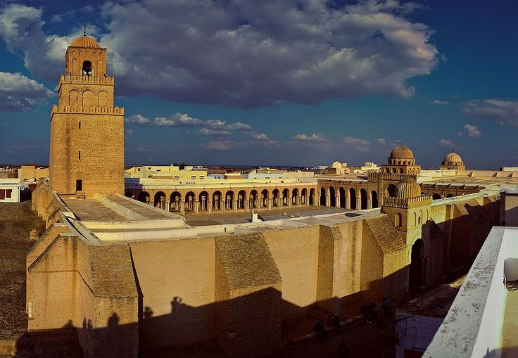 The Great Mosque of Kairouan (also known as the Mosque of Uqba), first built in 670 by the Umayyad general Uqba Ibn Nafi, is the oldest and most prestigious mosque in the Maghreb and North Africa,[109] located in the city of Kairouan, Tunisia