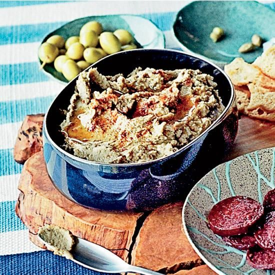 Green Lentil Hummus   For his take on the ubiquitous dip, Istanbul's star chef Mehmet Gürs uses earthy green lentils instead of chickpeas but stirs in a little of hummus's classic ingredient—tahini—for nuttiness. He also likes to flavor his hummus with spices, like cinnamon, or in this case, cumin.