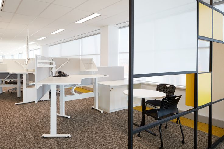 HI-LO health station by Burgtec. Sit to stand desking. Australian made. (Lotterywest office fit-out together with MKDC)