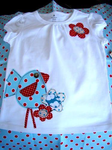 Con entretela de doble cara y unas telitas a customizar una camiseta!!