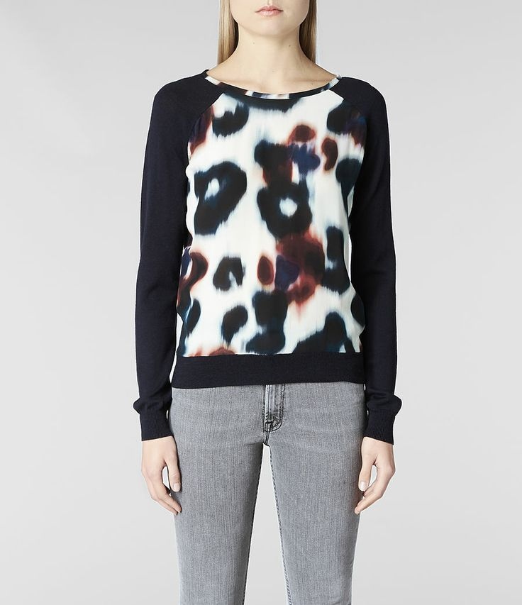 Womens Echo Jumper (Ink) | ALLSAINTS.com