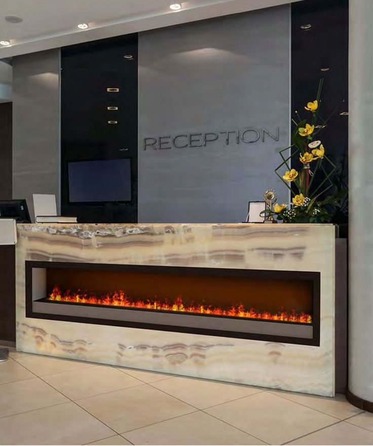 Dimplex Optimyst electric fireplace set into onyx. Gorgeous way to welcome  corporate visitors! - 17 Best Ideas About Dimplex Fireplace On Pinterest Dimplex