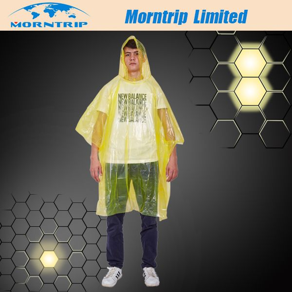 disposable rain poncho-Morntrip