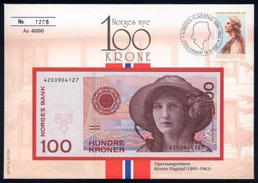 100 Norwegian Krone Banknote