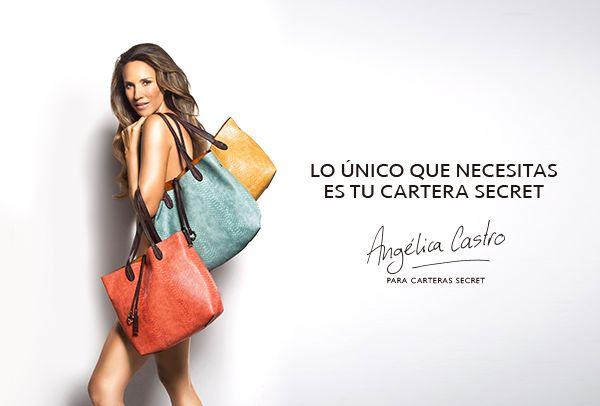 Angélica Castro para Carteras Secret.