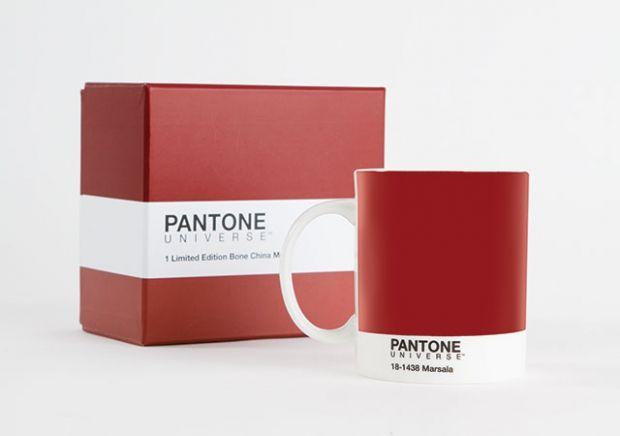 "Pantonefarbe 2015: ""Marsala"" | Porzellan-Tasse limitiert"